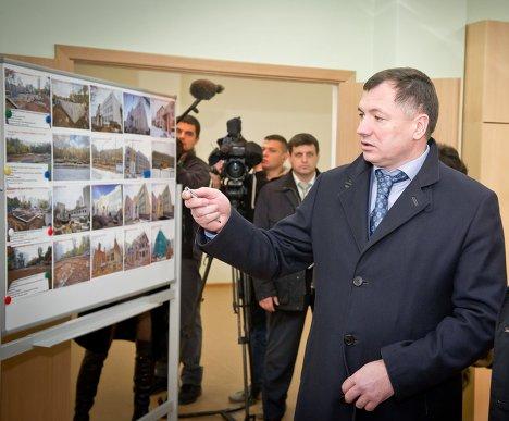 М. Хуснуллин во время посещения детсда с С. Собяниным