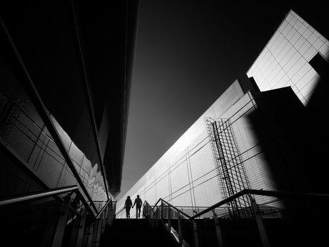 Лестница в БЦ Метрополис