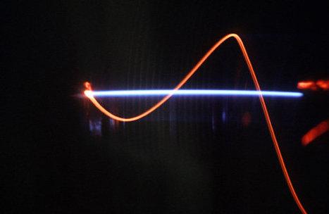 Электронный пучок вдоль магнитного поля
