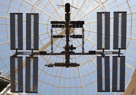 Макет МКС на выставке Космос — выборы — связь в здании ЦИК РФ