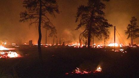 Пожар в Тыгде оставил без крова более 300 человек. Кадры с места ЧП