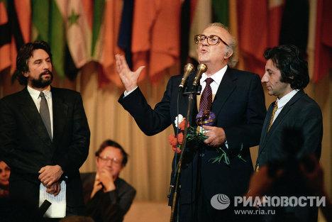 Выступление Ф.Феллини на XV Международном кинофестивале в Москве