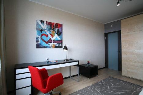 Дизайн квартиры в новостройке, стиль Ветка сакуры