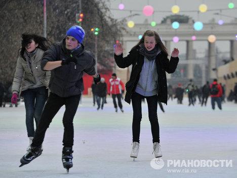 Открытие катка в ЦПКиО им. Горького