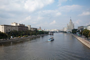 Москва-река и Котельническая набережная в районе станции метро Таганская