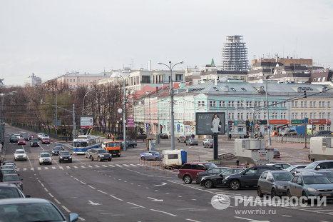 Панорама Рождественского бульвара в Москве