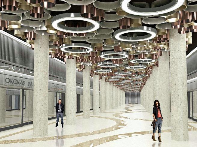 Проект станции метро «Окская улица»