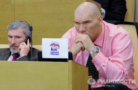 Николай Валуев на заседании нижней палаты российского парламента