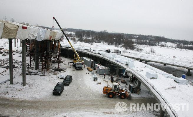 Строительство развязки МКАД с магистралью Вешняки-Люберцы