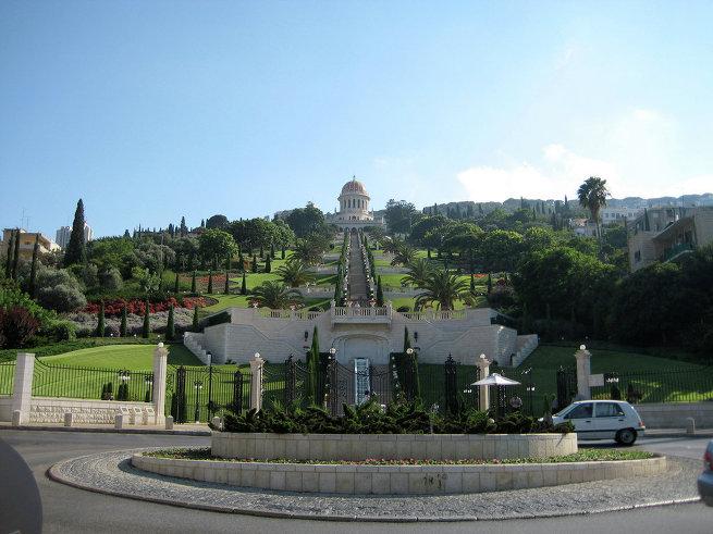 Лестница Бахайского храма в израильском городе Хайфа