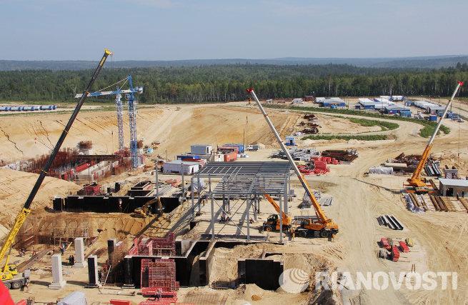 Строительство космодрома Восточный в Углегорске