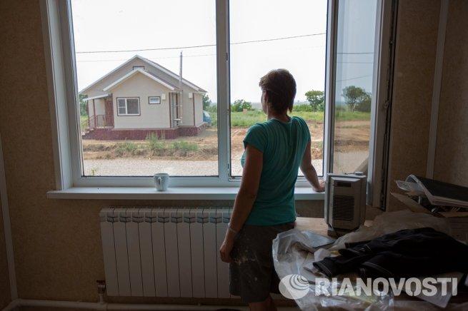 Строительство домов для пострадавших от паводка в Амурской области