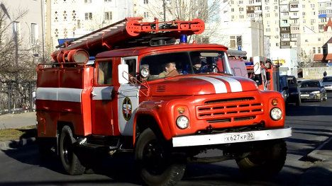 Автопробег пожарных машин