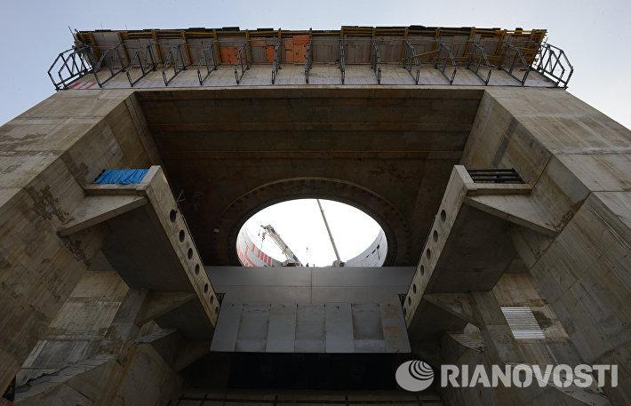 Строительная площадка на космодроме Восточный в Амурской области