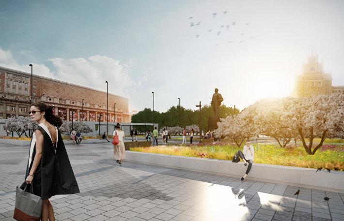Предполагается, что после реконструкции Триумфальная площадь станет полностью пешеходной