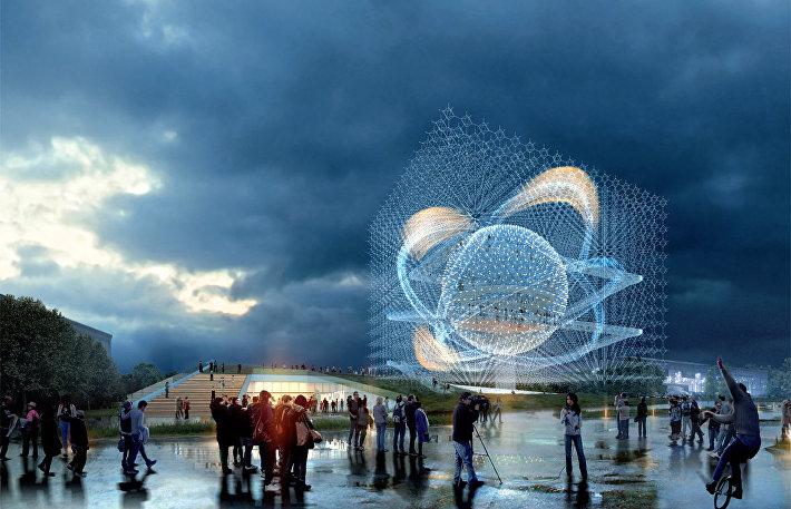 Концепция павильон Росатома на ВДНХ в Москве от UNK Project (Россия).