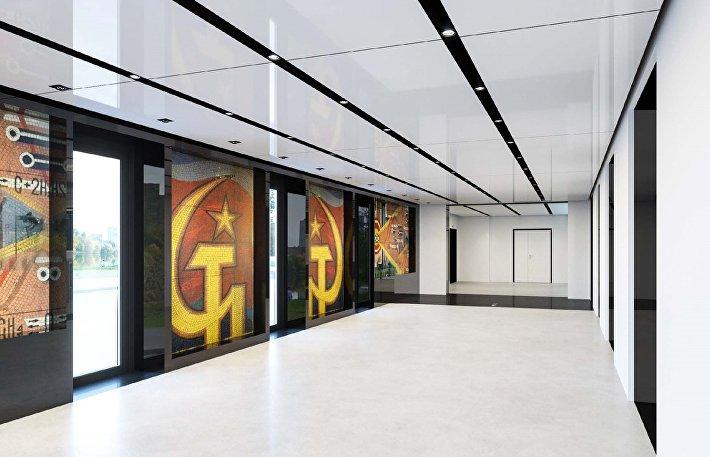 Центральная входная группа (лифтовый холл) АО НИИграфит от ABD architects