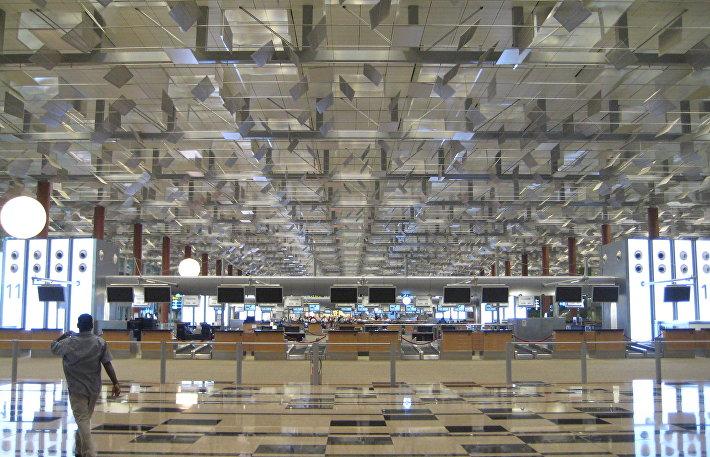 Аэропорт Чанги - стойки регистрации