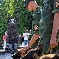 Открытие памятника фронтовой собаке на Поклонной горе в Москве
