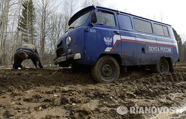 Работа почтового отделения в Тарском районе Омской области