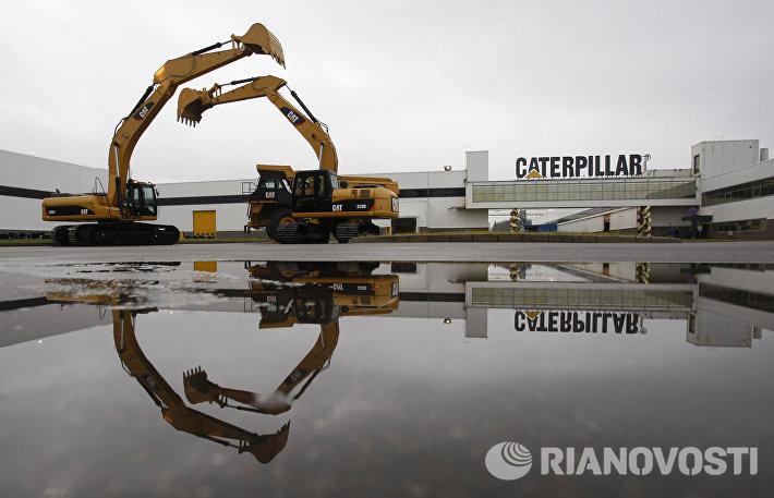 Запуск производства самосвалов Caterpillar в городе Тосно Ленинградской области