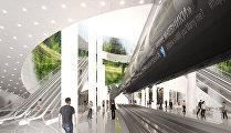 Проект станции метро Нижние Мневники французских архитекторов Train Bompa (Франция)