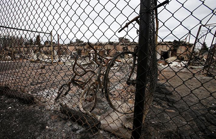 Последствия пожара в Форте Мак-Мюррей