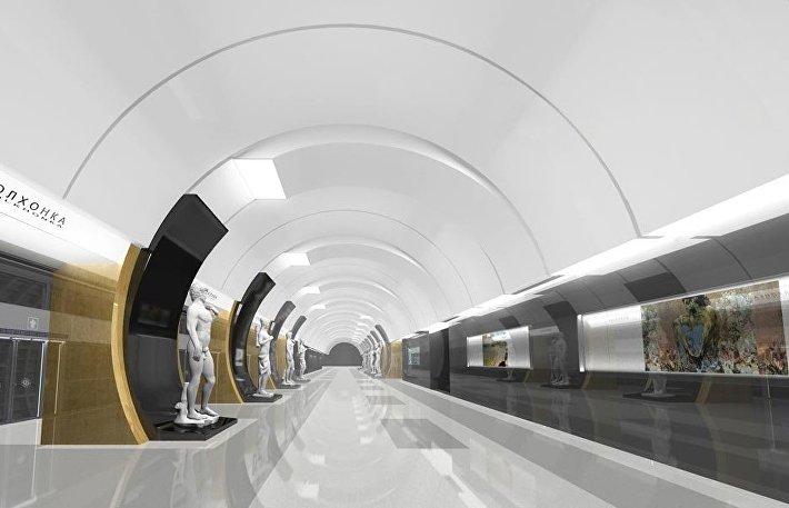 Проект станции Волхонка