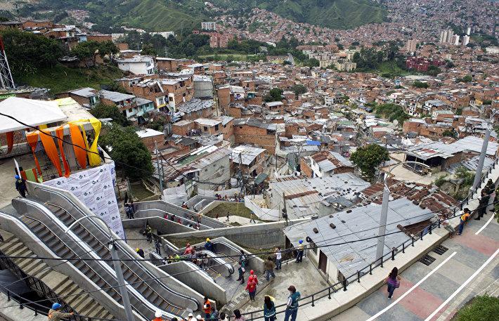 Эскалатор в Колумбии