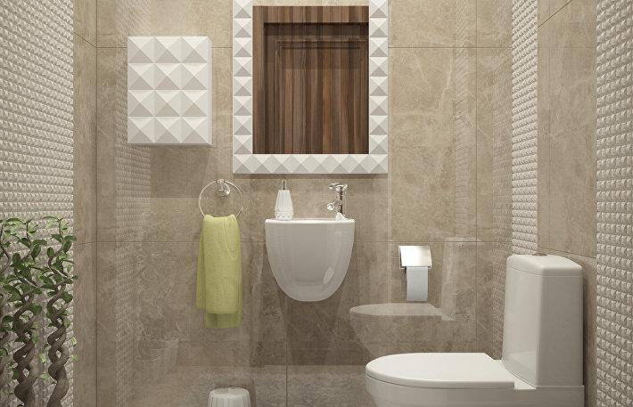 Вариант отделки ванной комнаты в ЖК «Сердце Столицы»