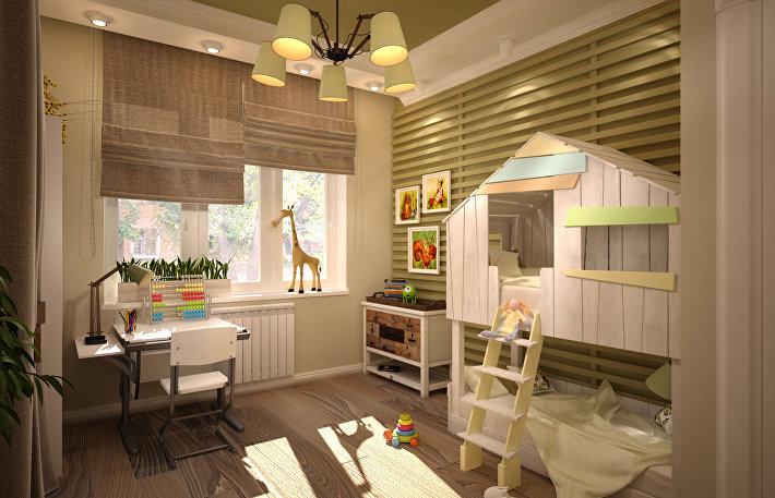 Игровой рай: как создать стойкий интерьер детской комнаты