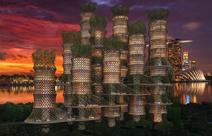 Проект небоскреба из бамбука от CRG Architects в Сингапуре