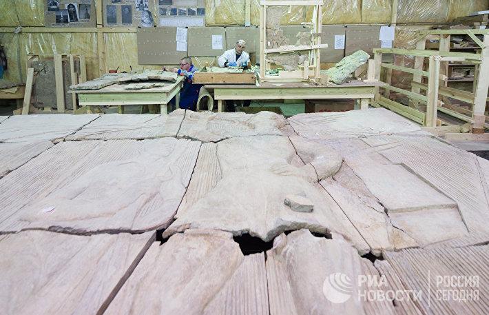 Реставрация барельефов для стадиона ВТБ Арена Парк
